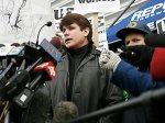 Губернатор штата Род Благоевич на митинге протеста