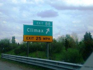 """Город в штате Мичиган с забавным названием """"Климакс""""."""
