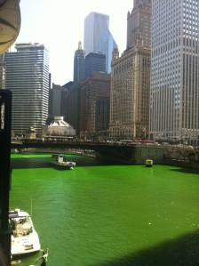 Зелёная Чикаго Ривер